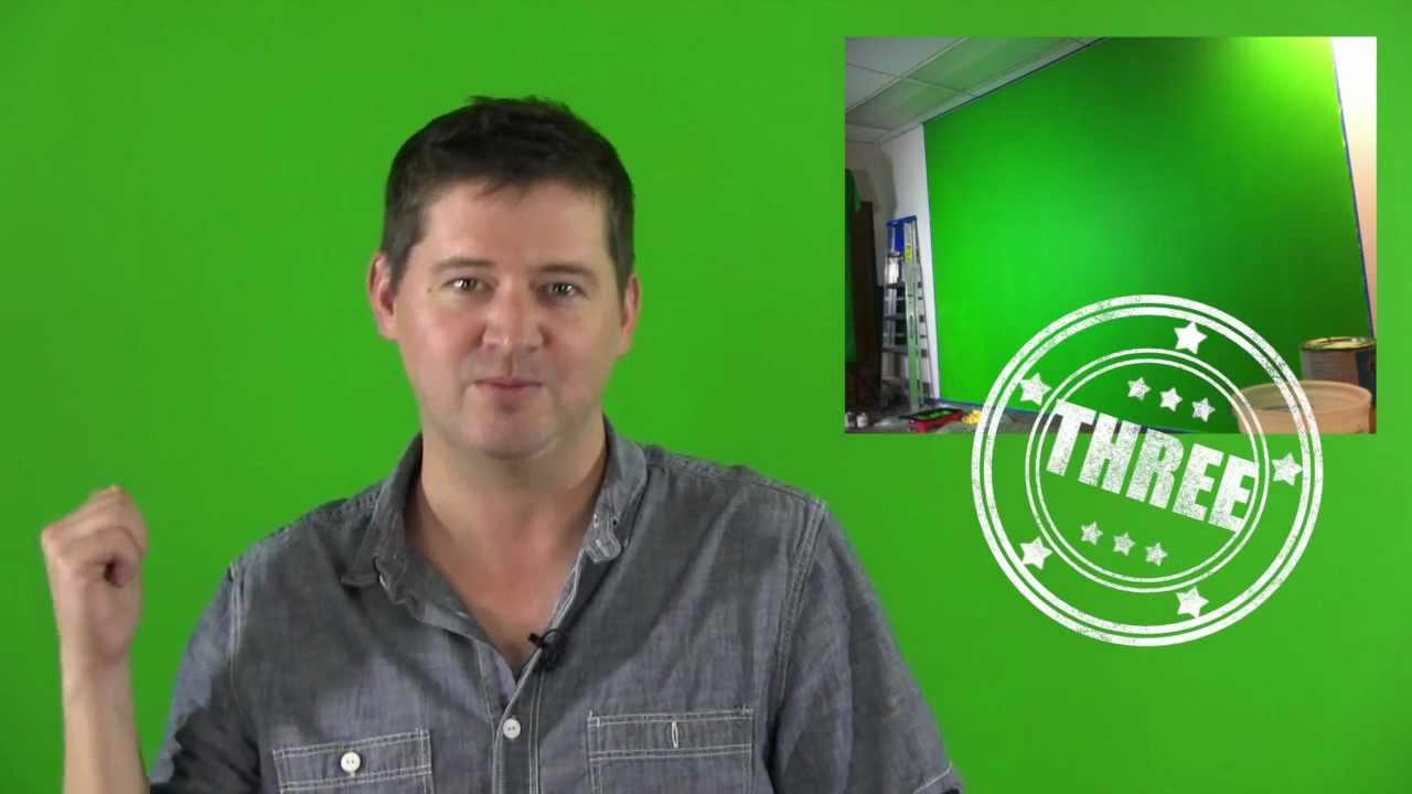 Benjamin Moore Neon Green Chroma Key Wall