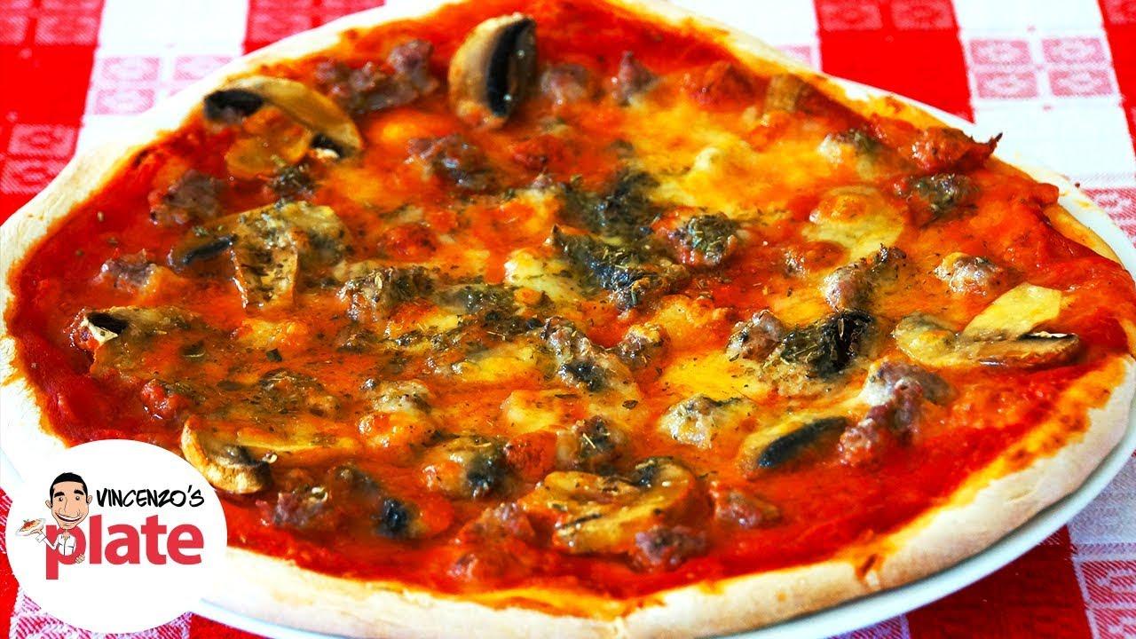 MUSHROOM and SAUSAGE PIZZA RECIPE | Italian Food Recipes