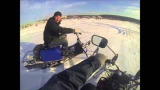 Тест-драйв мотобуксировщика с лыжным модулем