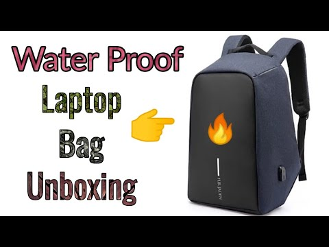 ce89827617f7 Unboxing of Water Proof Laptop Bag