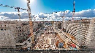 Bauarbeiten Mercedes Platz (Mercedes-Benz Arena)   Baudokumentation