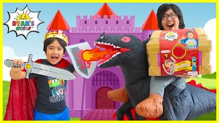King Ryan vs Powerful Dragon Daddy for the Mystery Treasure Chest!!