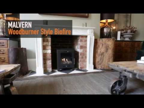 Malvern Black Bioethanol Fireplace - Imaginfires