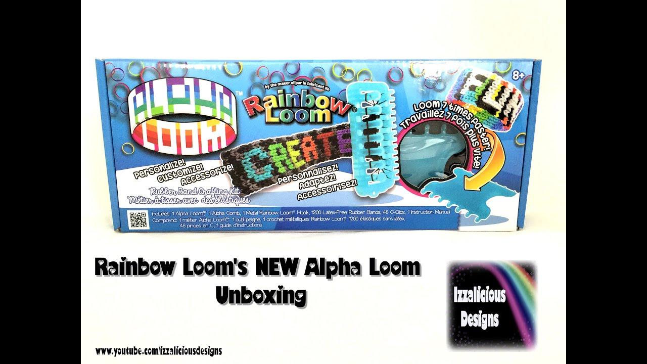rainbow loom new alpha loom unboxing video youtube rh youtube com Small Weaving Looms Loom Patterns