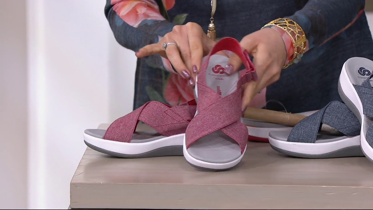 d9181c00037 CLOUDSTEPPERS by Clarks Adjustable Sandals - Arla Kaydin on QVC ...