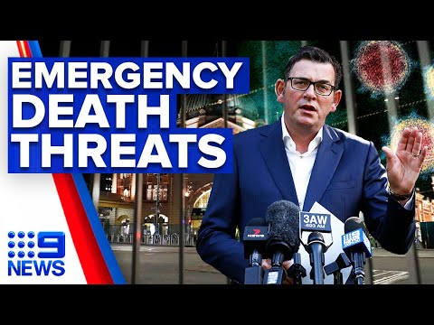 Coronavirus: Deaths threats aimed at ministers extending state of emergency | 9 News Australia