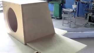 Caixa para Subwoofer com duto Retangular mais Iluminação