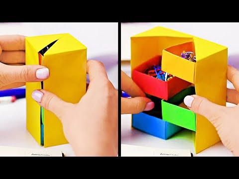 INCREDIBLE PAPER HACKS    Creative Paper Crafts For Everyone