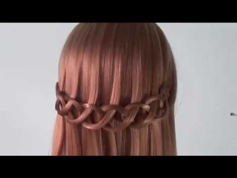 Tạo kiểu tóc tết thác nước duyên dáng cho ngày thu dịu dàng P2