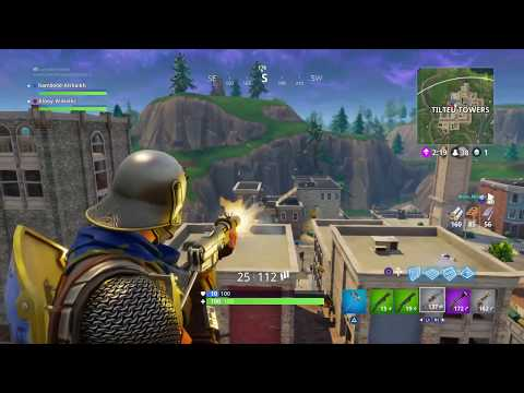 [PS4] Fortnite Battle Royale - TOP WITH 1% HEALTH ONLY !!!!