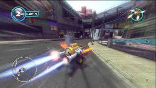 Sonic & Sega All Stars Racing Transformed - Shibuya Downtown with Beat (Jet Set Radio)