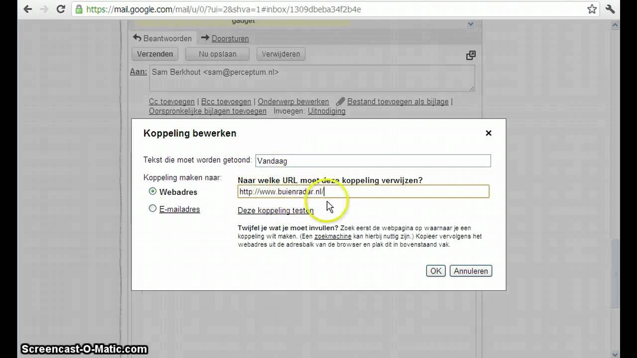 Opmaak van e-mail in Gmail aanpassen - YouTube
