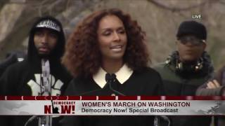 Trans Author & Activist Janet Mock at Women's March:
