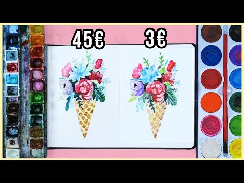 Cheap vs. Expensive Watercolor Art Supplies - Is It Really Worth it? | Art Journal Thursday Ep. 30