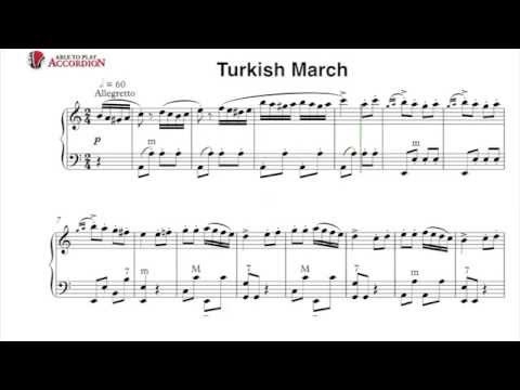 Accordion Sheet Music: Turkish March