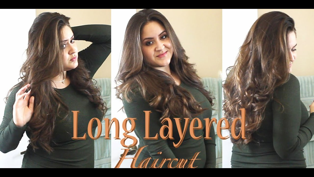 layered long hair style how to cut your own hair in layers tutorial 8326 | maxresdefault