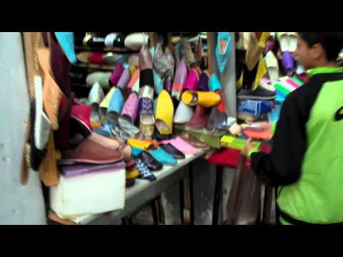 Fez Morocco, Shoe Sale Madness in The Ancient Souks