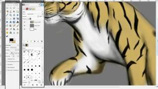 Как нарисовать тигра(как нарисовать тигра с помощью gimp., 2010-07-29T07:13:00.000Z)