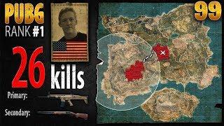 PUBG Rank 1 - Tfue 26 kills SOLO - PLAYERUNKNOWN'S BATTLEGROUNDS #99