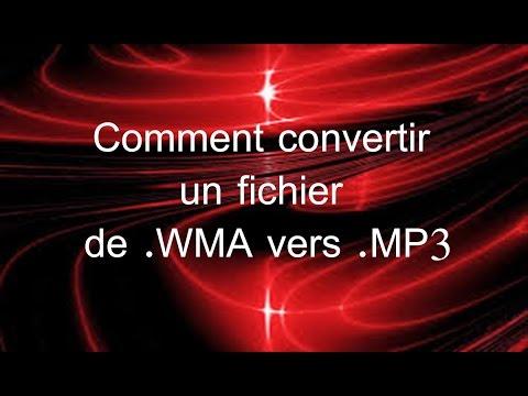 Comment convertir un fichier de WMA vers MP3