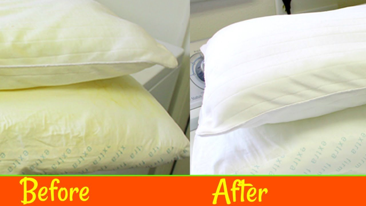 how to wash yellowed pillows yellow flat to white fluffy solutionsroom youtube. Black Bedroom Furniture Sets. Home Design Ideas