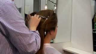 港区赤坂のタカシ美容室です。大きめのヘアスタイルですが、すき毛の量...