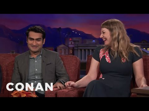 Kumail Nanjiani & Emily V. Gordon Remember Their Courtship Differently   CONAN on TBS