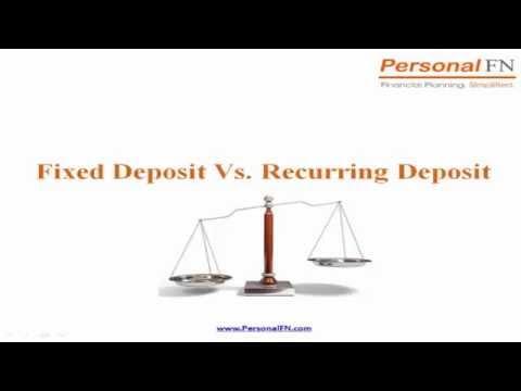 Bank Fixed Deposits Vs Bank Recurring Deposits