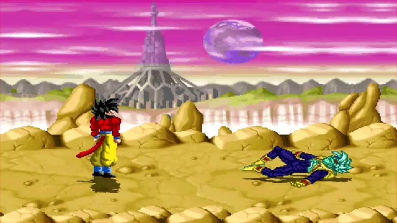 dragon ball heroes mugen super saiyan 4 goku vs super baby vegeta