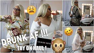 A VERY DRUNK FASHION NOVA TRY ON HAUL !! (HILARIOUS)