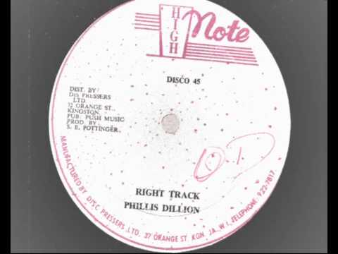 phillis dillon - right track 12 inch - high note records 1978