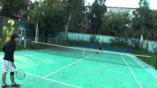 Теннис. Удар справа. Часть 6.
