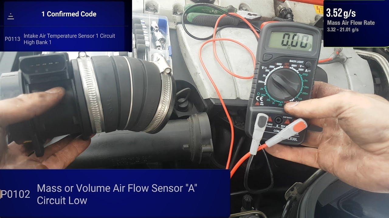 Mercedes w203 Mass Air Flow sensor - How to Test it - c200 2002