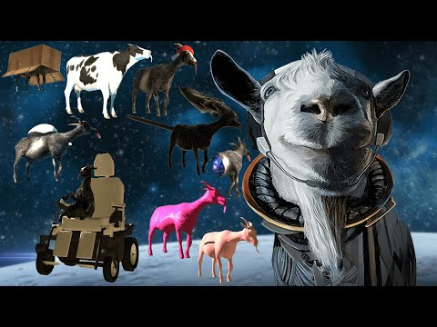 Goat Simulator: Waste of Space - How to unlock ALL Goats/Mutators! (Milky Way Goat etc.) [PS4]