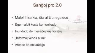 1. Kiel reto 2.0 ŝanĝis ĉion? (Reto 2.0 por esperantistaj organizoj)