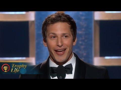 Andy Samberg Hilarious Acceptance Speech Golden Globes 2014