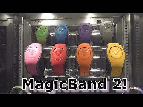 NEW MagicBand 2 in Action at Destination D - D23 - Medallion Can Be Taken Off Bracelet