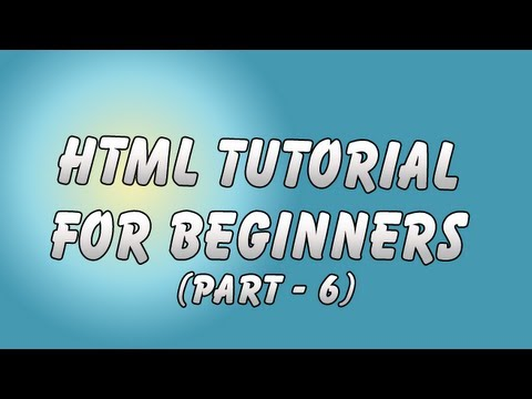 HTML Tutorial 6 - Drop Down list, Radio Option and Multi-Select list