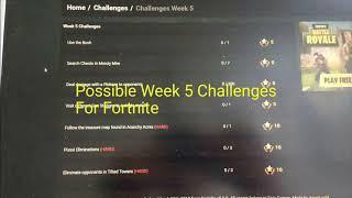 Fortnite Week 5 Challenges Leaked! Fortnite Battle Royale