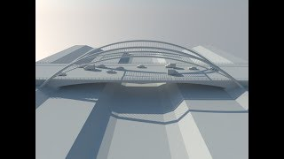 Sketchup DZ #011 Easy way to create a bridge  طريقة سهلة لتصميم جسر