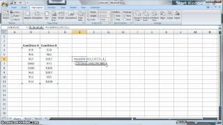 t-test in Microsoft Excel