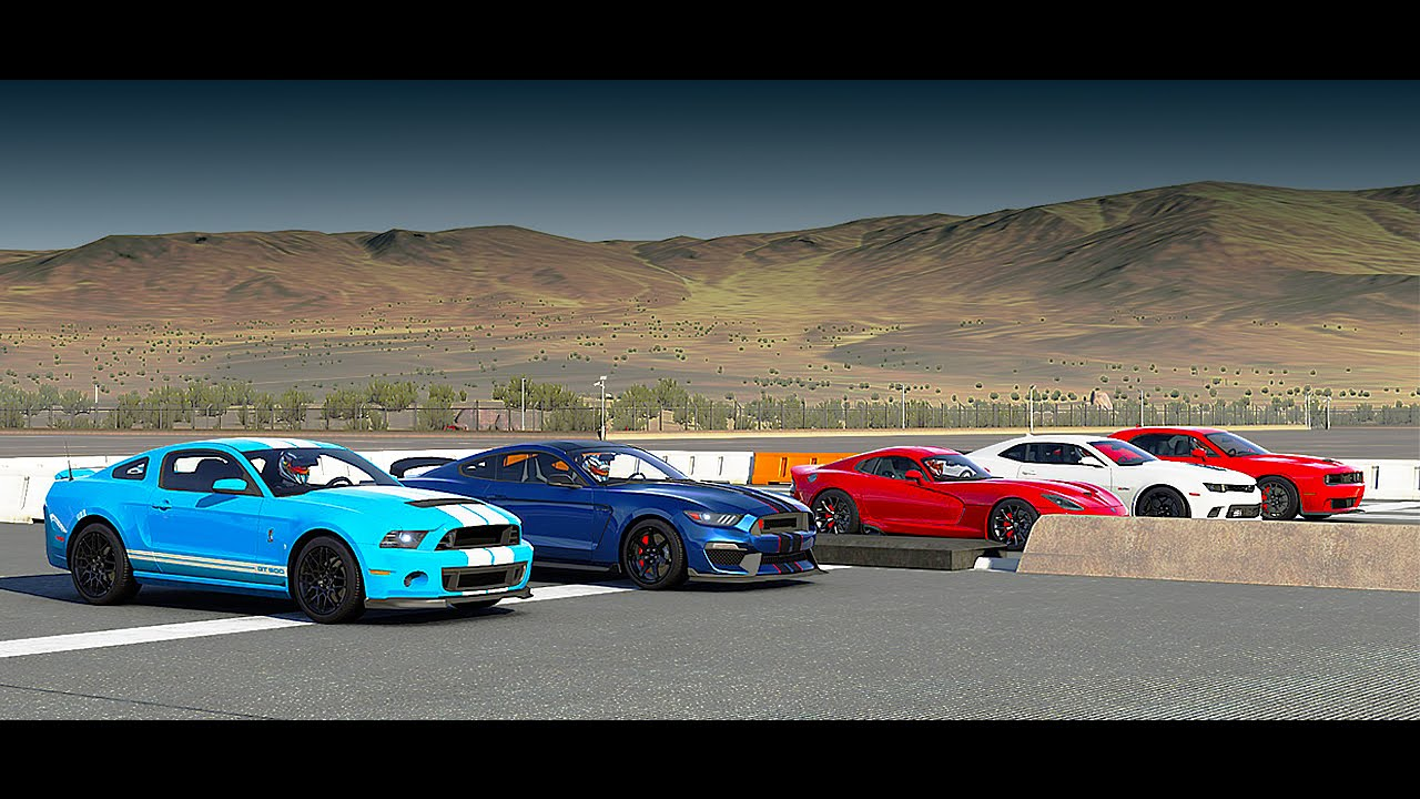 World S Greatest Drag Race Shelby Gt350r Gt500 Hellcat
