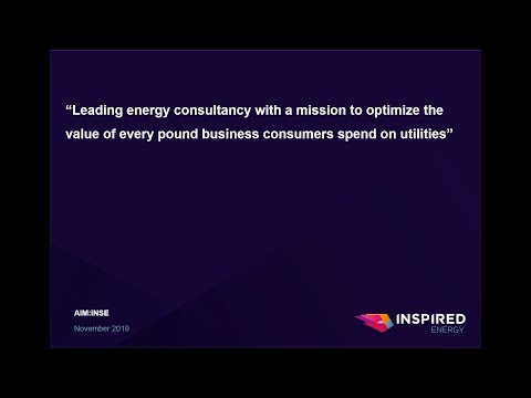 Inspired Energy (INSE) investor presentation at Mello London November 2019