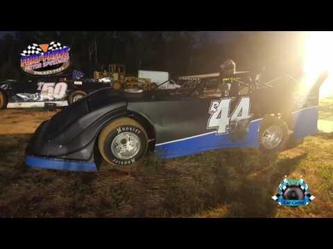 #R44 Rod Carroll - Heat Race - Super Late Model - 7-28-17 Fort Payne Motor Speedway - In Car Camera