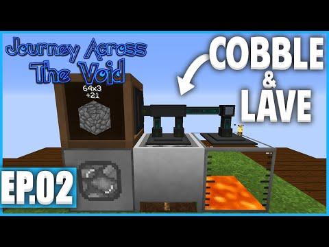 DE LA COBBLE ET DE LA LAVE ! | Minecraft Moddé - Journey Across The Void | Ep# 2