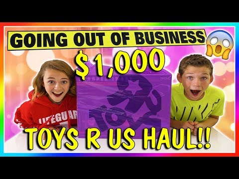 $1,000 TOYS R US SHOPPING HAUL | GOODBYE TOYS R US! | We Are