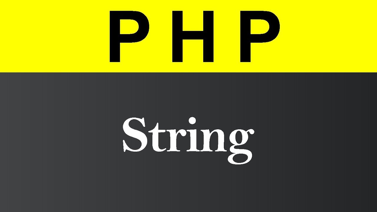 String in PHP (Hindi)