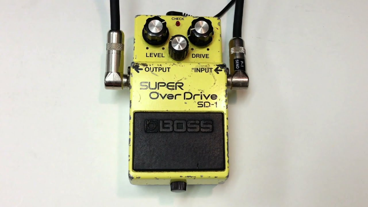 1982 vintage boss sd 1 super overdrive youtube