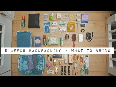 How to Pack || What to bring whilst traveling around Asia