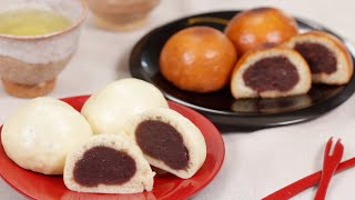 Mushi Manju Recipe (Japanese Steamed Buns with Red Bean Paste Filling) | Cooking with Dog